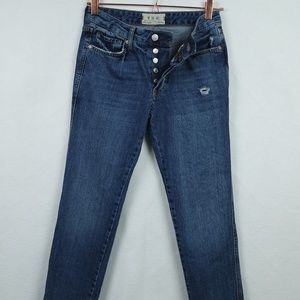 Free People Button Fly Distressed Denim Jeans NWOT